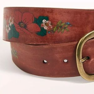 NEW FREE PEOPLE BOSWORTH FLORAL PAINTED BELT